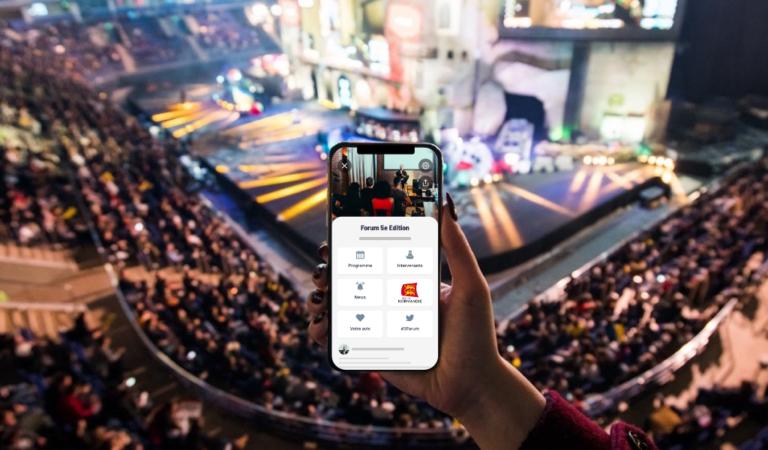 Photo d'un événement avec un smartphone